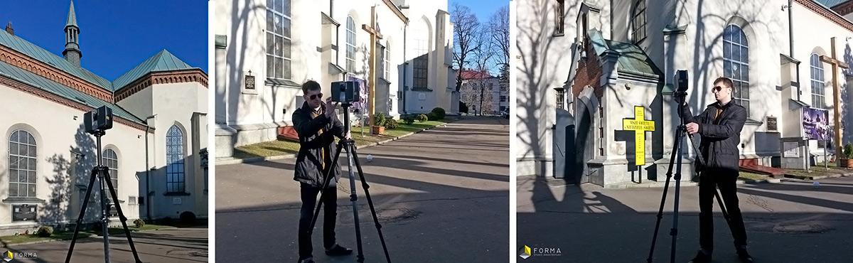 skanowanie laserowe kościoła